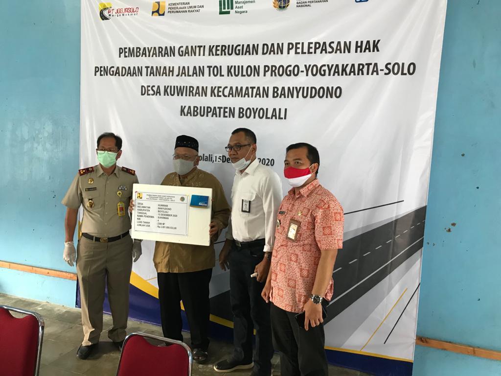 Pembayaran & Pelepasan Hak Lahan untuk Seksi 1 - Proyek Solo - Yogyakarta - NYIA Kulonprogo