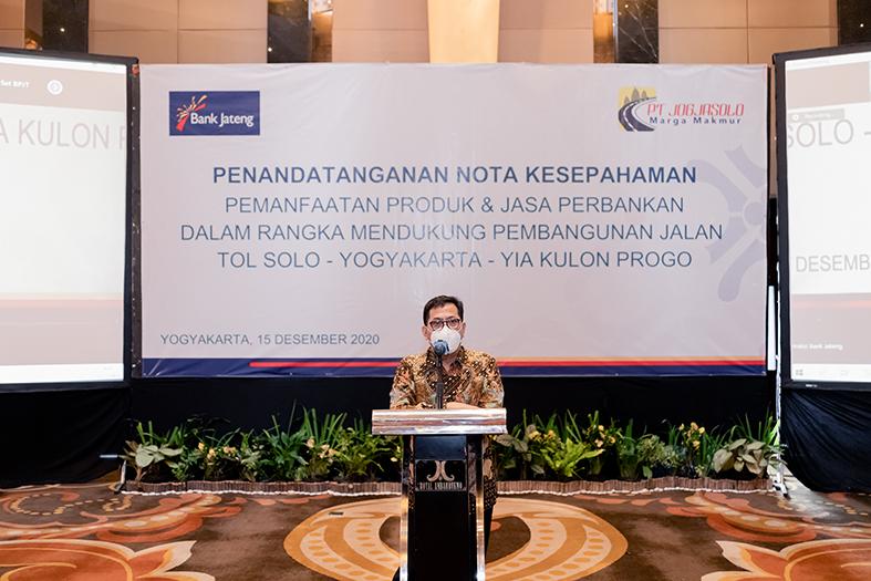 Sambutan oleh Direktur Utama PT JMM, Bapak Adrian Priohutomo.