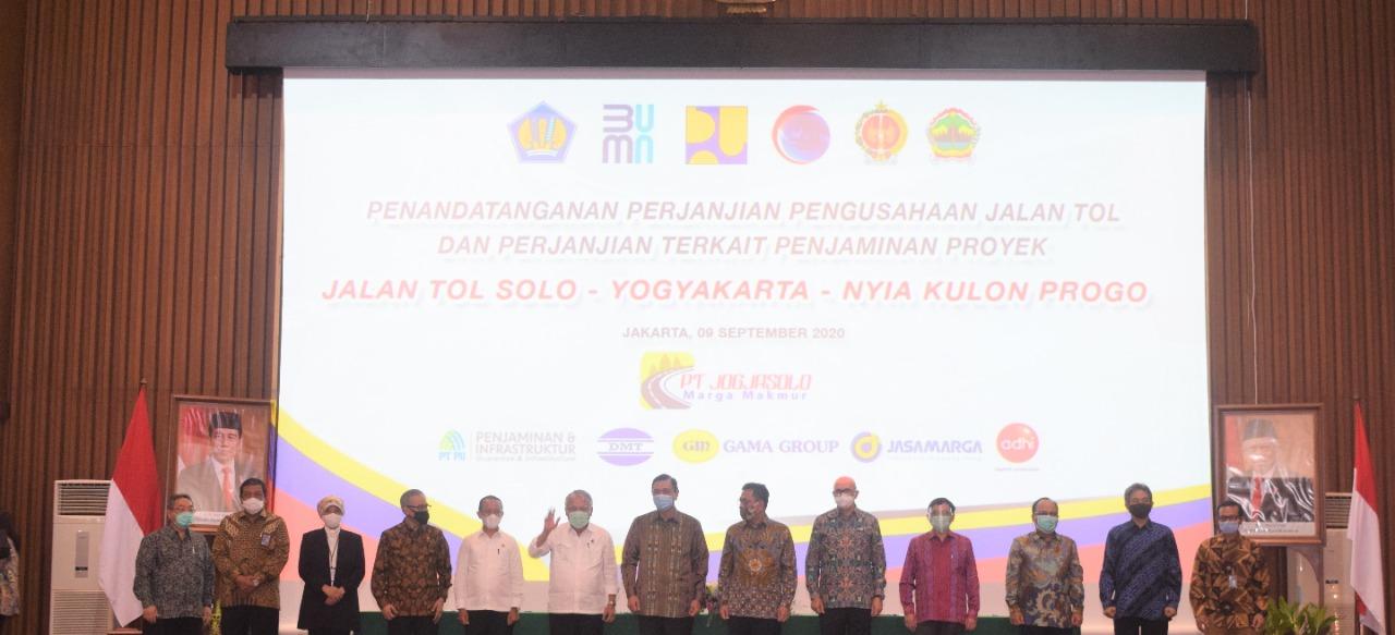 Konsorsium Swasta-BUMN Tandatangani PPJT dan Penjaminan Proyek Jalan Tol Solo-Yogyakarta-NYIA Kulonp