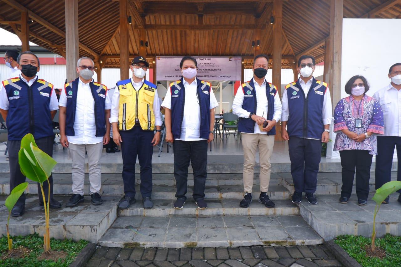 Kunjungan Menko Perekonomian dan Menko Perindustrian ke Kantor Proyek Tol Solo - Yogyakrta - YIA Kul